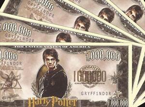 New-5-Note-Set-HARRY-POTTER-Banknotes-1-Million-Serial-GRYFFINDOR-Novelty-Note