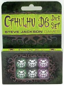 Steve-Jackson-Games-SJG5927-Cthulhu-D6-Dice-Set-19mm-Game-Accessories-Horror