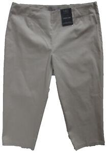 Nueva-camiseta-para-mujer-Marks-amp-Spencer-Beige-Pantalones-Tamano-16-regular-de-cultivos-Conico