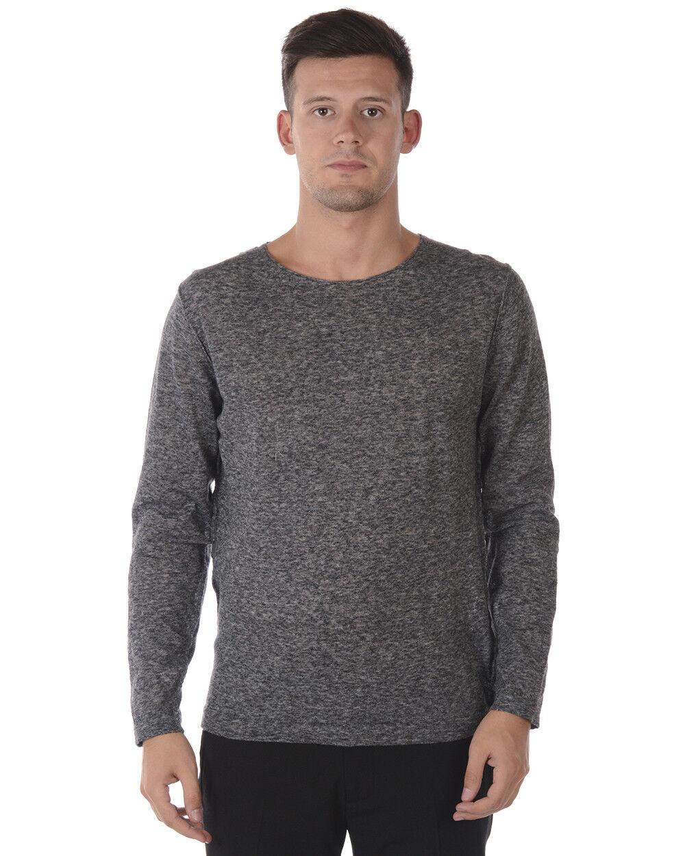Maglia Maglione Daniele Alessandrini Sweater Pullover  Herren Grigio FM911233702 10