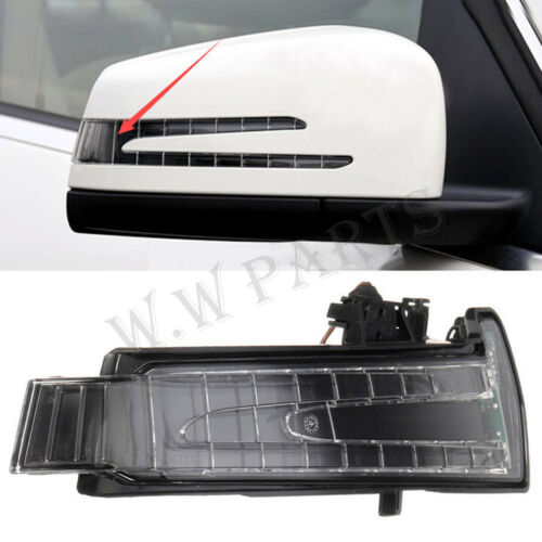 Right For Benz W204 W212 W221 LED Side Mirror Marker Turn Signal Light Yellow