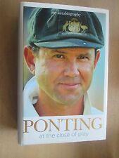 Ricky Ponting At The Close Of Play SIGNED Australian Cricket Captain HCDJ VGC