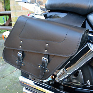 Image Is Loading Motorcycle Leather Saddlebags Panniers Harley Davidson Sportster Xl
