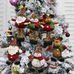 Christmas-Gift-Santa-Claus-Snowman-Ornament-Festival-Party-Xmas-Tree-Decor-Doll
