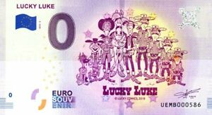 95 NEUVILLE-SUR-OISE Lucky Luke, N° de la 6ème liasse, 2018, Billet 0 € Souvenir