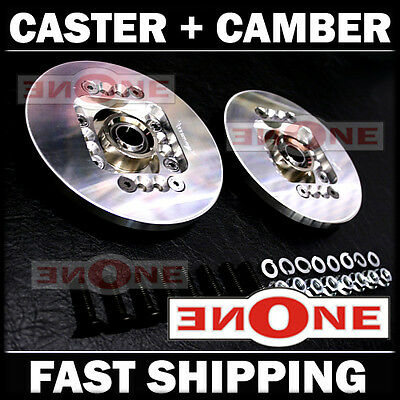 NEW! MK1 Universal Fit Caster Camber Plates Toyota MR2 AE86 Corolla GT-S Celica