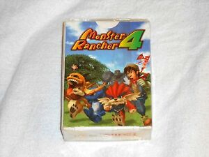 NEW-Monster-Rancher-4-Video-Game-PLAYING-CARDS-Deck-SEALED-Tecmo-Rare-2003-Pack