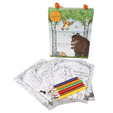 GRUFFALO MINI TRAVEL SET 6 COLOURED PENCILS POSTERS GAMES PUZZLES MOUSE OWL FOX