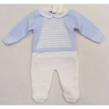 f35faad5b Baby Crisp White Knitted Pram Suit Spanish Traditional Boys Girls ...