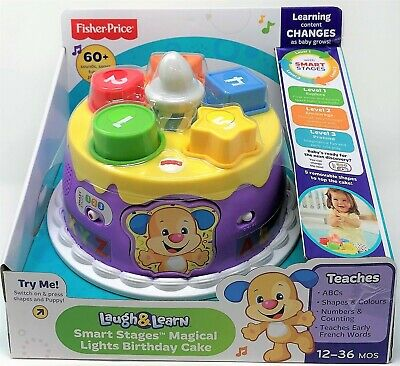 Pleasing Fisher Price Musical Lights Birthday Cake Laugh And Learn Smart Personalised Birthday Cards Beptaeletsinfo
