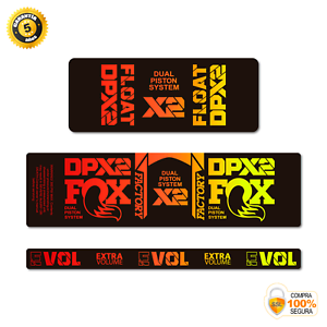 STAR SAM® Bike shock absorber Gradient stickers 2021 Fox Float DPX2 Rear Shock