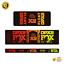thumbnail 1 - STAR SAM® Bike shock absorber Gradient stickers 2021 Fox Float DPX2 Rear Shock