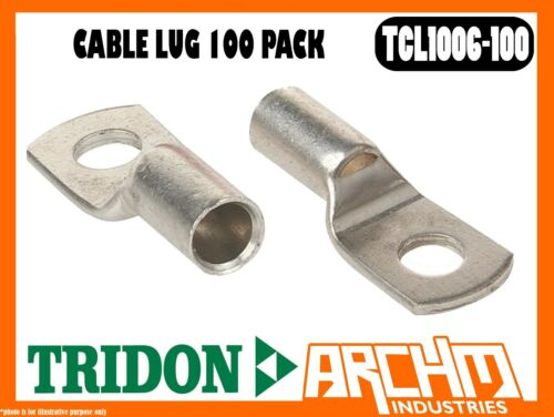 STUD 6mm 100 PACK BOXED CABLE 10mm2 8 B/&S TRIDON TCL1006-100 CABLE LUG