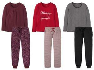 newest 325a7 4667e Details zu Esmara Damen Schlafanzug Pyjama Set 2-teilig Schlaf Anzug NEU