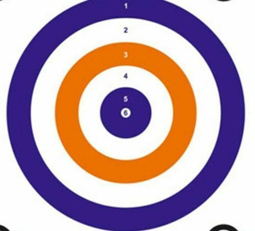pack of 100 140MM X 140MM CARD SHOOTING PAPER TARGETS AIR RIFLE PRACTICE