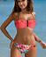 Ruffle Bikini Livia Push-up NEON Orange Floral Genuine High Quality GABBIANO New