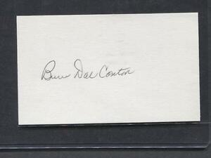 Bruce-Dal-Canton-signed-3X5-Index-Card-Pirates-1967-Debut-Flat-Rate-Ship