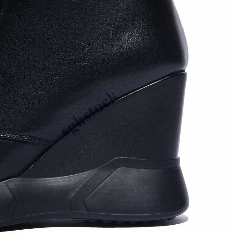 Autumn Women Ankle Boots Zipper Height Increasing shoes shoes shoes Wedge Heel Lace Up Boots 1e9511