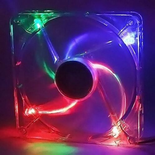 PC Computer CPU Case Cooling Fan Cooler Multi Color LED 140mm 3Pin 4Pin 140x25mm