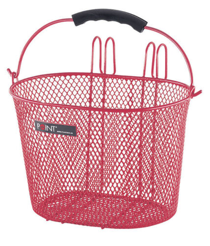 rojo Point bicicleta para niños-cesta metal cesta-alambre cesta nuevo 5107600 ovalada