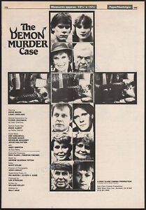 THE DEMON MURDER CASE__Orig. 1983 Trade AD / poster__Kevin Bacon__Andy Griffith