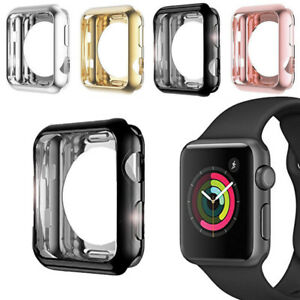 info for ccf54 30a36 Details about Apple Watch Series 3 Soft TPU Bumper iWatch Screen Protector  Case Cover 38/42mm
