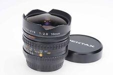 Pentax 16mm f2.8 SMC A Fish-Eye Lens 16/2.8 K Mount                         #679