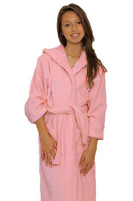 Cheap Sale Kids Hooded Terry Bathrobe, Spa, Party, Pool, Kids Robe Great Gift !!! Pink Discounts Price