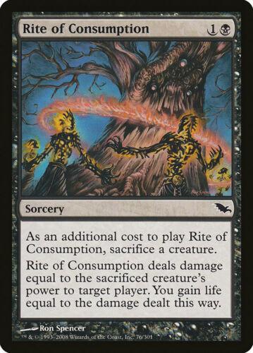 Shadowmoor Moderate Play C FREE US SHIPPING! MTG X4: Rite of Consumption