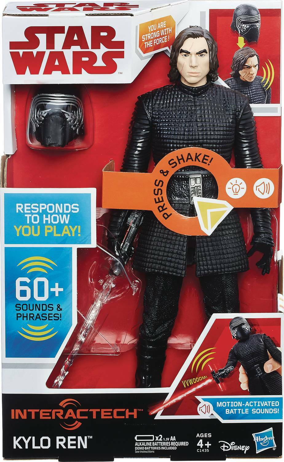STAR Wars E8 interactech  kylo  REN 12  ACTION FIGURE HASBRO ()
