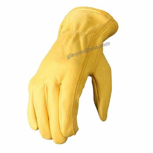 Deerskin Leather Gloves  sehr weiches edles Hirschleder ohne Futter Qualität neu