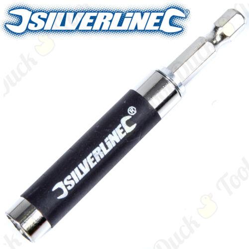 "1//4/"" Silverline Finger Saver Retracting Screw Drill Bit Holder Screwdriver 80mm"