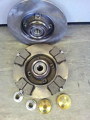 25mm PEUGEOT 307 REAR BRAKE DISCS C//W BEARINGS ABS RINGS,DUST COVERS 2001-2006