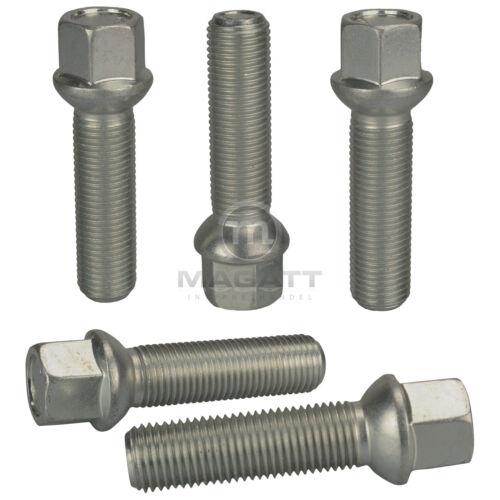 20 zinc tornillos perno de rueda m12 1,5 26 bala r12 bala federal sw17 llantas de acero
