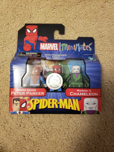Minimates Spider-Man Spider Sense Peter Parker /& Chameleon Comme neuf on Card TRU EXCLUSIVE