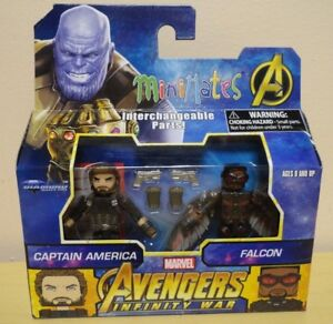 New-in-Box-Diamond-Select-Marvel-Infinity-War-Captain-America-amp-Falcon-Figures