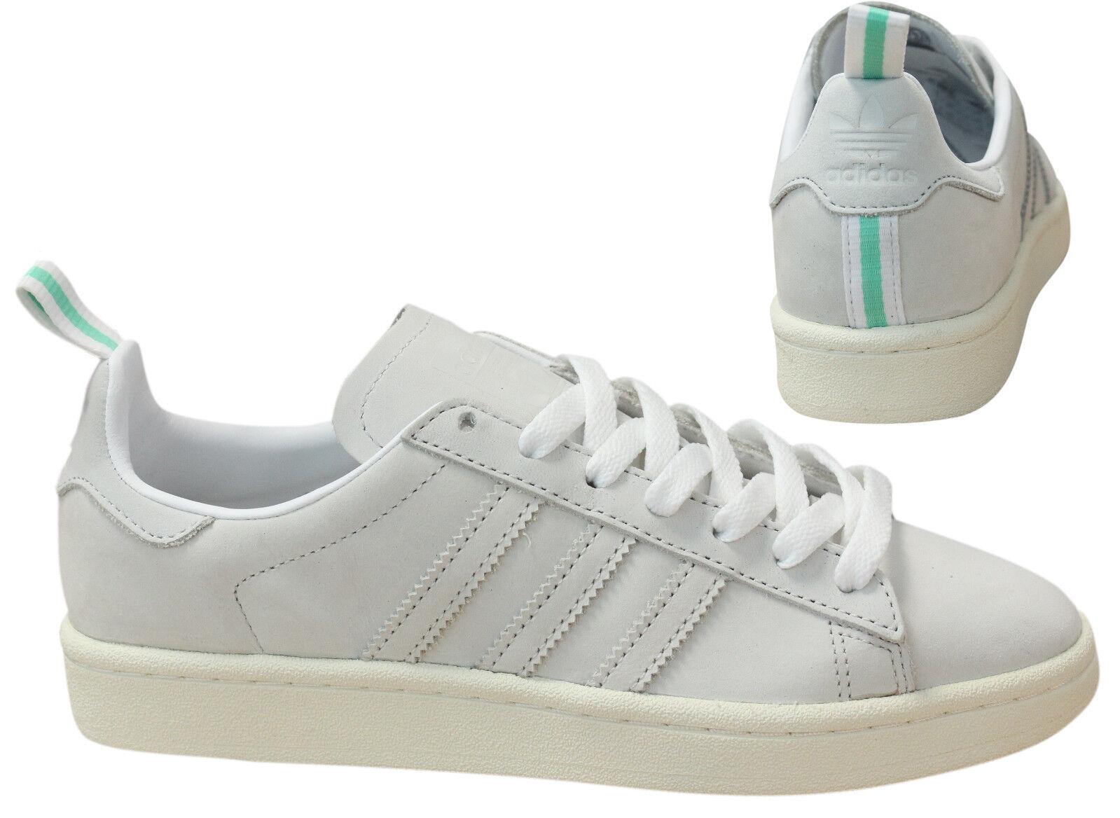 Adidas Originals Cordones Campus ante Hombres con Cordones Originals Zapatillas Blanco BZ0065 M16 260e15