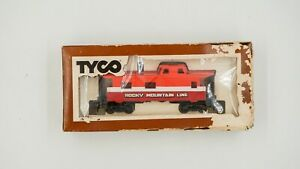 Vintage-HO-Scale-Tyco-Rocky-Mountain-Line-Caboose-Car-Model-train-VTG-in-box