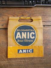 sac d'emballage seita - 20 cigarettes Anic bout filtrant - caporal ordinaire