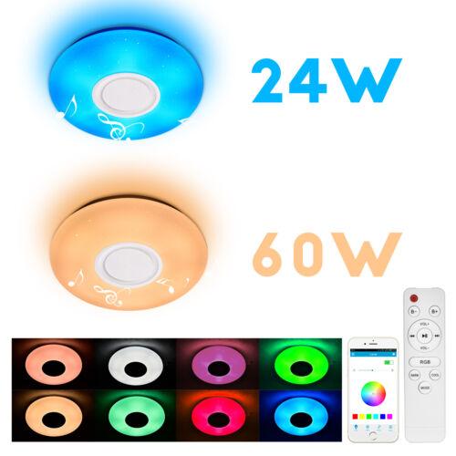 36W Modern LED Ceiling Light Round Bluetooth Music Lights Bathroom Bedroom Lamp