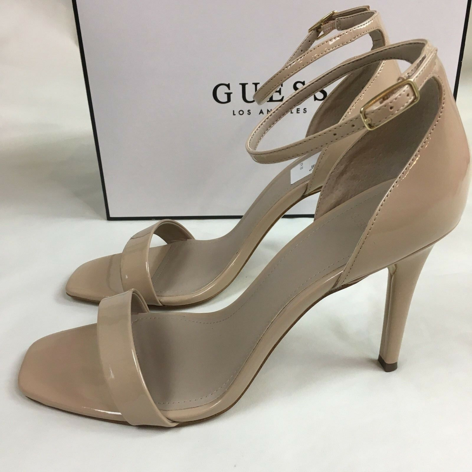 Guess Damens Light Natural LL Nude Celie 3 Sandale Heel Schuhe Career Work Größe 10 M