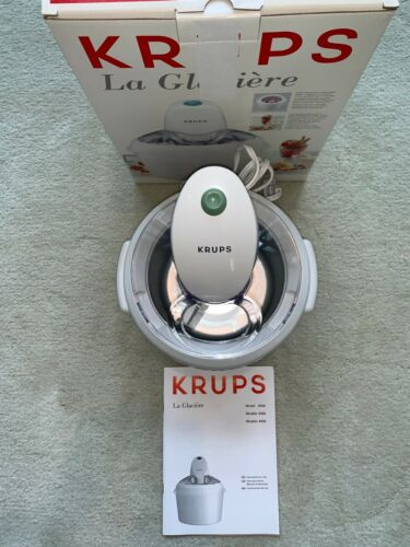 Krups La Glaciere Ice Cream Sorbet Maker Model 358 White