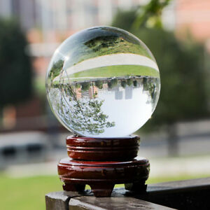 Clear Crystal Ball Magic Healing Meditate Sphere Photography 80mm + Stand Uk 701160670231