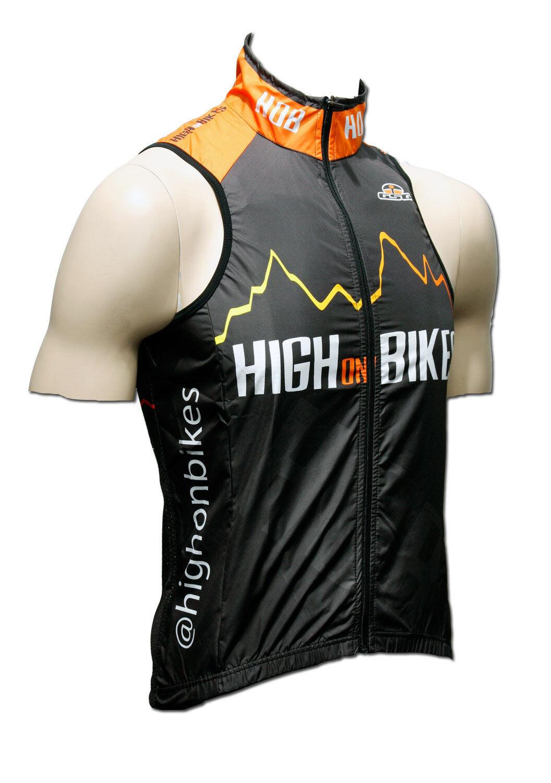 High on Bikes V4 - Sleeveless Cycling Gilet   Vest