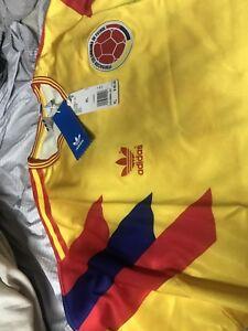 5a28f0893 adidas Men's Original Colombia Replica Soccer JERSEY XL NEW RARE ...