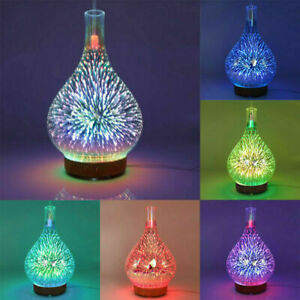 3D Firework Air Diffuser LED Ultrasonic Essential Aroma Humidifier Purifier 1P C