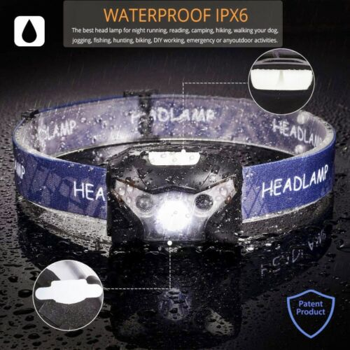 50000LM LED Headlamp Rechargeable Mini Motion Sensor Head light with USB Cable