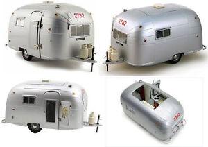 1:18 Moteur Ville - Airstream Aluminium Camper Trailer Caravane