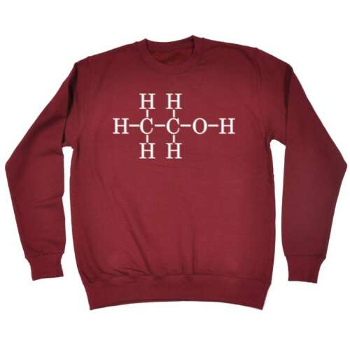 Funny Sweatshirt Alcohol Chemical Structure Birthday tee Christmas JUMPER