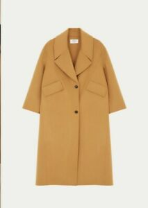 Womens-Long-Camel-Coat-Size-1-Small-Ba-amp-sh-French-Brand